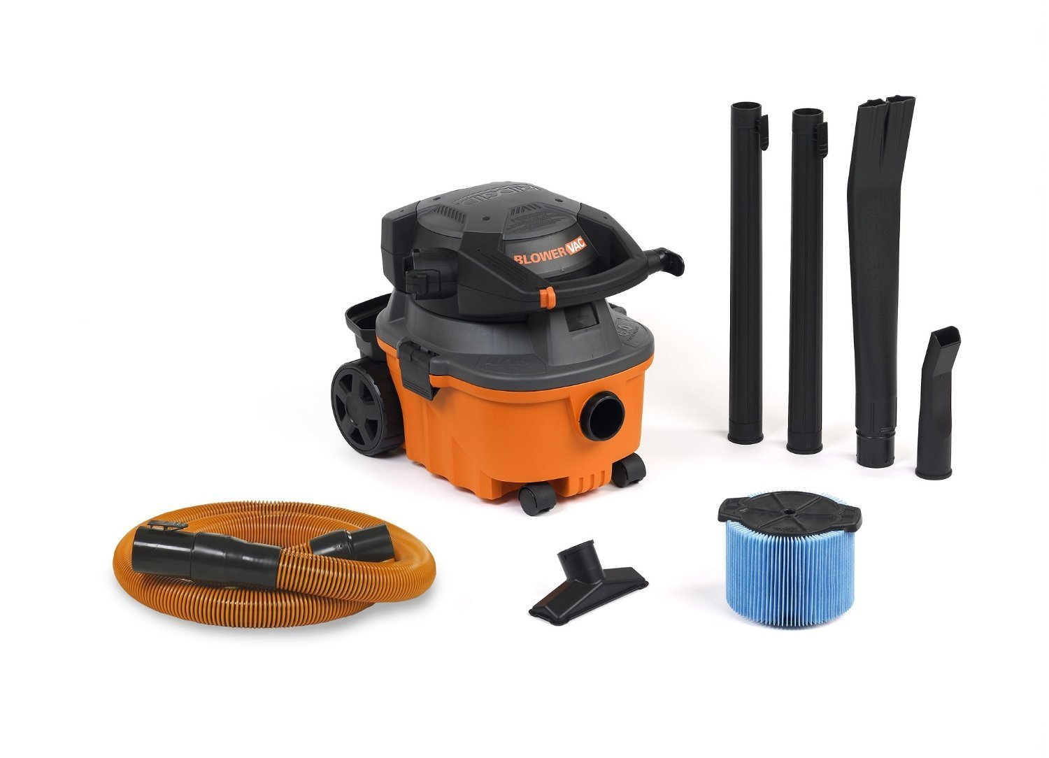 RIDGID VAC4010 2-in-1 Compact and Portable Wet Dry Vacuum Cleaner with Detachable Blower